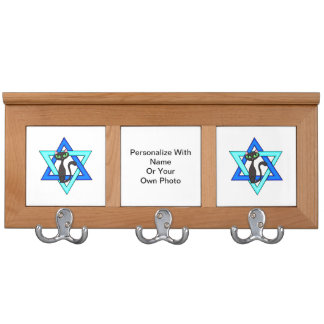 Jewish Cat Stars Coat Racks