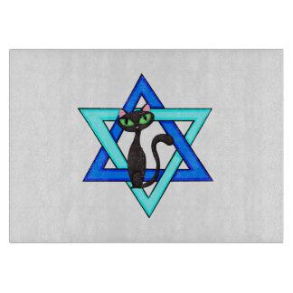 Jewish Cat Stars Cutting Boards