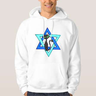 Jewish Cat Stars Hoodie