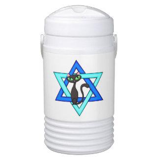 Jewish Cat Stars Igloo Beverage Cooler