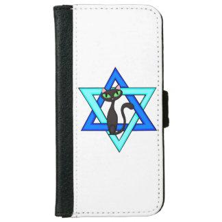 Jewish Cat Stars iPhone 6 Wallet Case