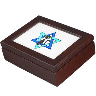 Jewish Cat Stars Keepsake Boxes