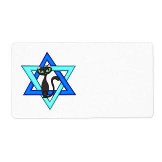 Jewish Cat Stars Shipping Label