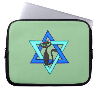Jewish Cat Stars Laptop Sleeves