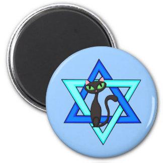 Jewish Cat Stars Magnet