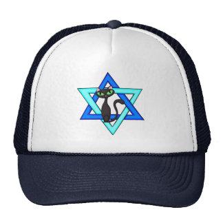 Jewish Cat Stars Mesh Hats