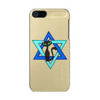 Jewish Cat Stars Metallic Phone Case For iPhone SE/5/5s