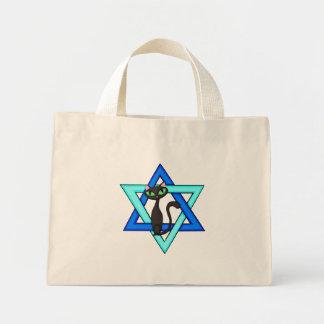 Jewish Cat Stars Mini Tote Bag