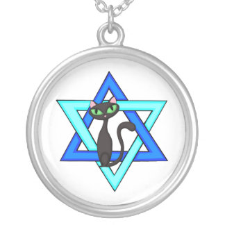 Jewish Cat Stars Pendants