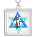 Jewish Cat Stars Necklaces