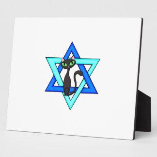 Jewish Cat Stars Plaques