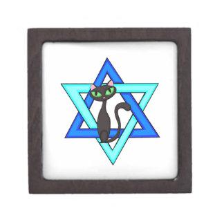 Jewish Cat Stars Premium Trinket Box