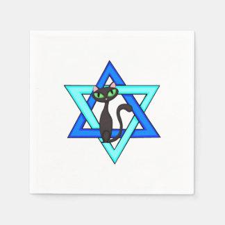 Jewish Cat Stars Standard Cocktail Napkin