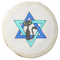 Jewish Cat Stars Sugar Cookie