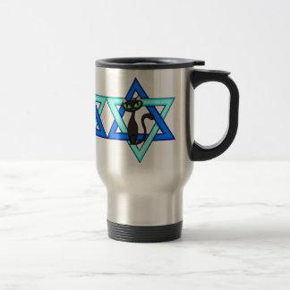 Jewish Cat Stars Travel Mug