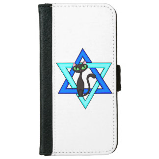 Jewish Cat Stars Wallet Phone Case For iPhone 6/6s