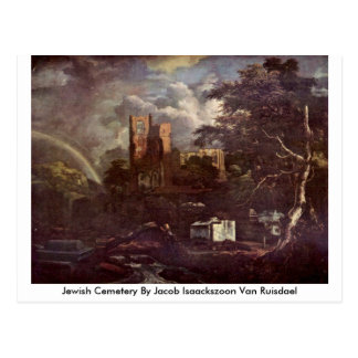 Jewish Cemetery By Jacob Isaackszoon Van Ruisdael Postcard