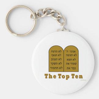 JEWISH COMMANDMENTS TOP TEN GIFTS KEYCHAIN