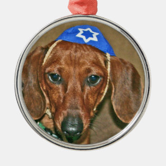 Jewish Doxie Metal Ornament