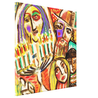 Jewish Festival Of Lights Happy Chunakkah Canvas Stretched Canvas Prints