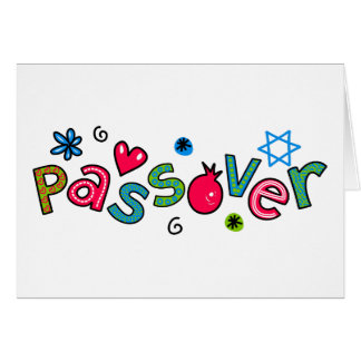 Jewish Festival of Passover Text Greeting Card