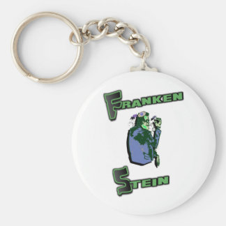 Jewish Franken Stein Basic Round Button Keychain