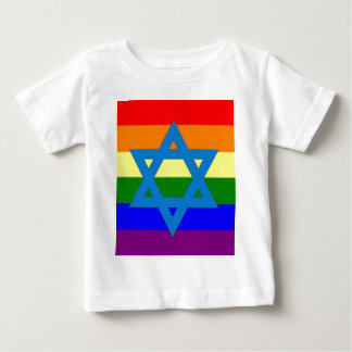 Jewish Gay Pride Flag Baby T-Shirt