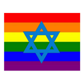 Jewish Gay Pride Flag Postcard