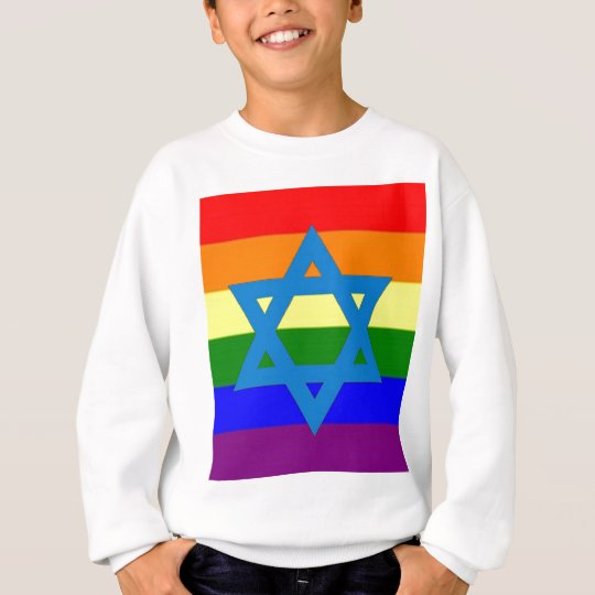 Jewish Gay Pride Flag Sweatshirt
