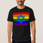 Jewish Gay Pride Flag T-shirts