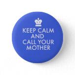 Jewish Gift Button-Keep Calm Pinback Button