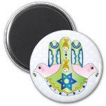 Jewish Hamsa 2 Inch Round Magnet