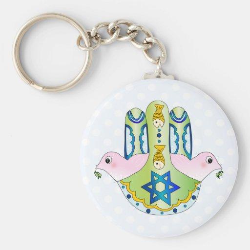 Jewish Hamsa Keychain