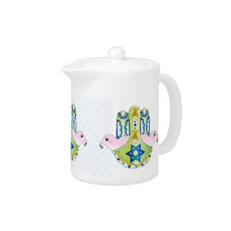 Jewish Hamsa Teapot