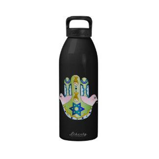 Jewish Hamsa Reusable Water Bottles