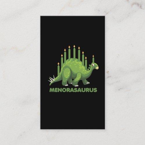 Jewish Hanukkah Dinosaur Menorah Jew Dino Fans Business Card