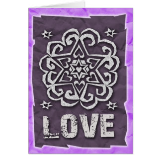 Jewish: Hearts and Star of David Mandala Greeting Card