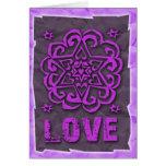 Jewish: Hearts and Star of David Mandala Love Card