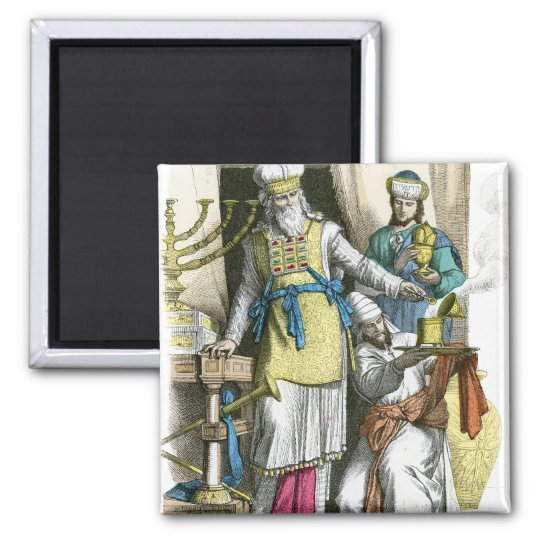 Jewish High Priest from before the time of Christ 2 Inch Square Magnet