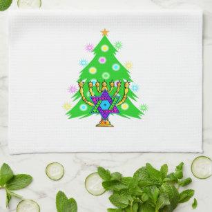 Jewish Holiday Celebrations Kitchen Towel