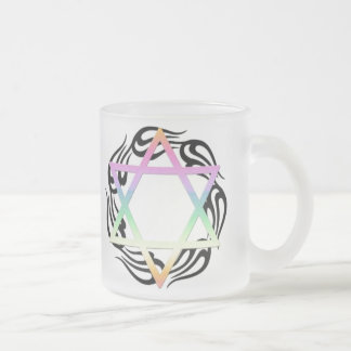 Jewish Holiday Family Frosted Glass Coffee Mug