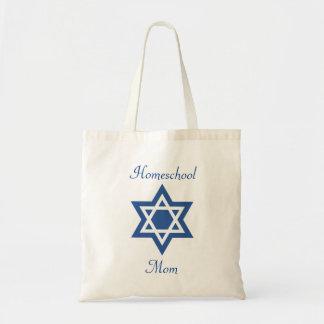 Jewish Homeschool Mom Star of David Tote Bag
