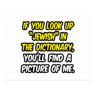 Jewish In Dictionary...My Picture Postcard