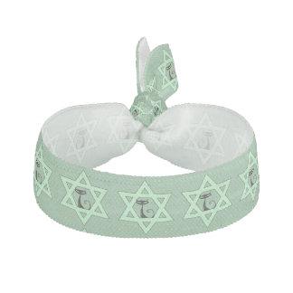 Jewish Kitty Cat Star of David Ribbon Hair Tie