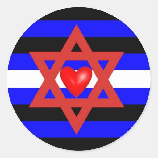 Jewish Leather Pride Classic Round Sticker