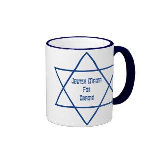 Jewish Mama For Obama Lg Star Mugs