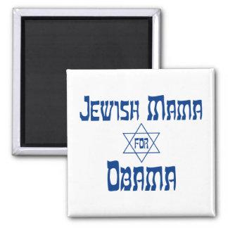 Jewish Mama For Obama Star Magnets