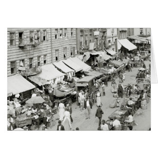 Jewish Market, NYC 1890s Card