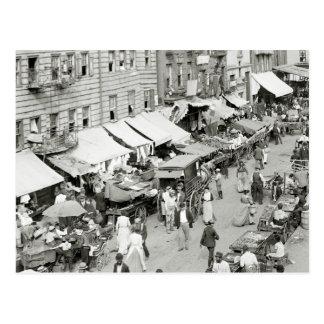 Jewish Market, NYC 1890s Postcard