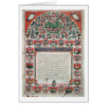 Jewish Marriage Contract (vellum) Greeting Cards